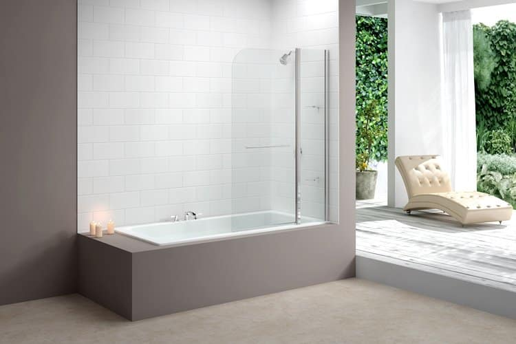 Merlyn 2 Panel Curved Bathscreen