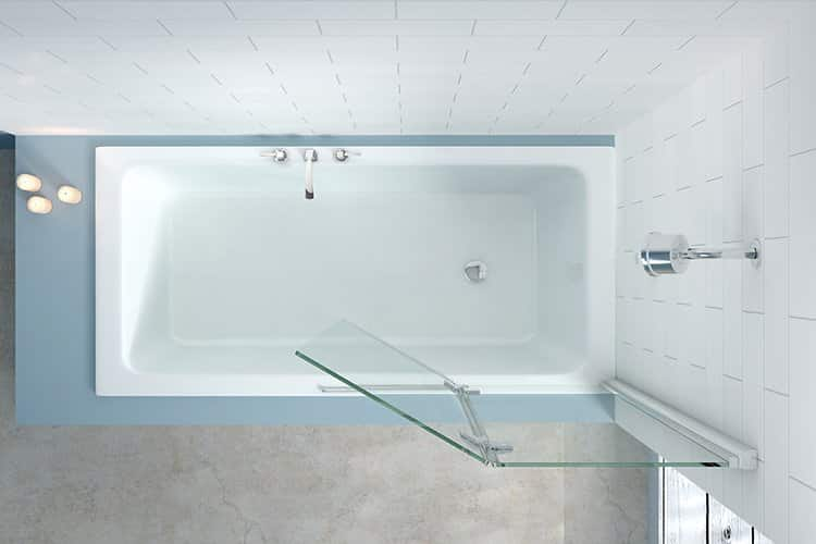 Merlyn 2 Panel Hinged Bath Screen