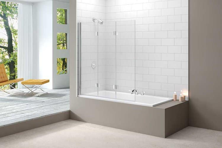 Merlyn 3 Panel Folding Bath Screen