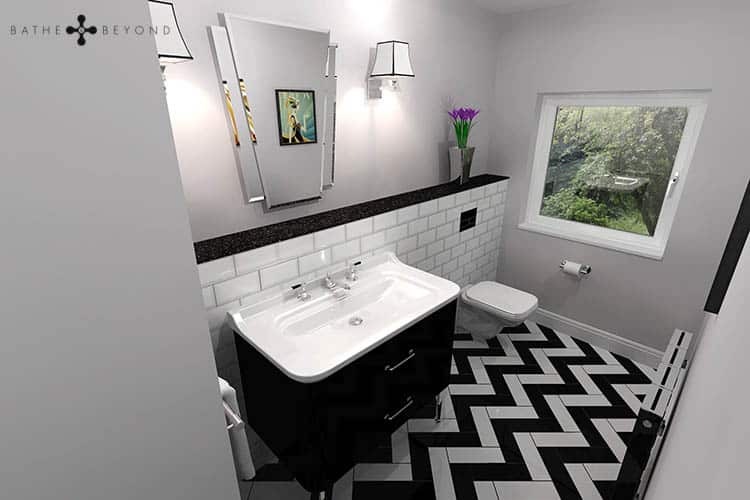 Bathroom Design Idea – Art Deco Cloakroom