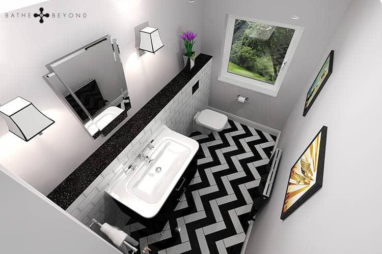 Art Deco Cloakroom