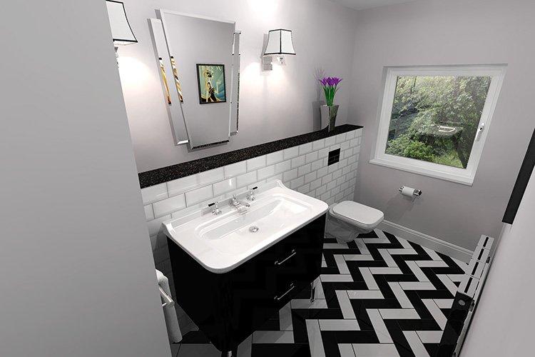PROJECT – Art Deco Cloakroom