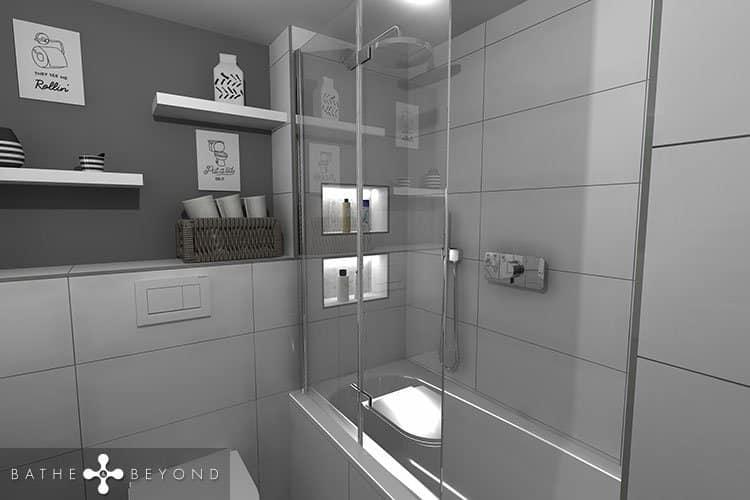 Ensuite Bathroom with a bath