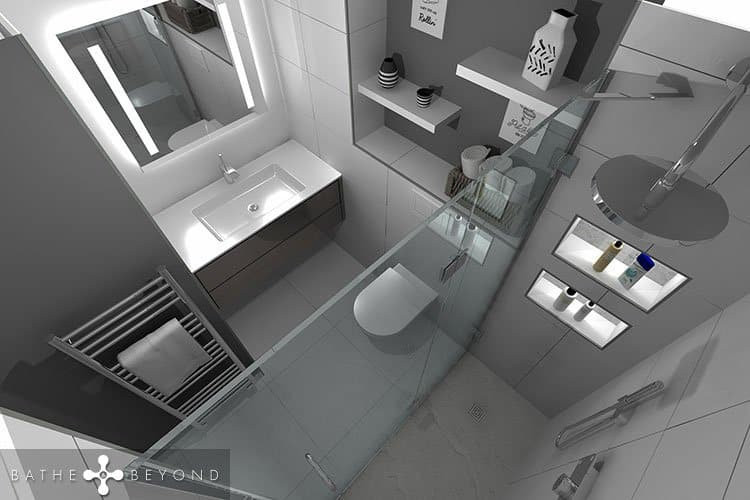 Ensuite Bathroom with a shower