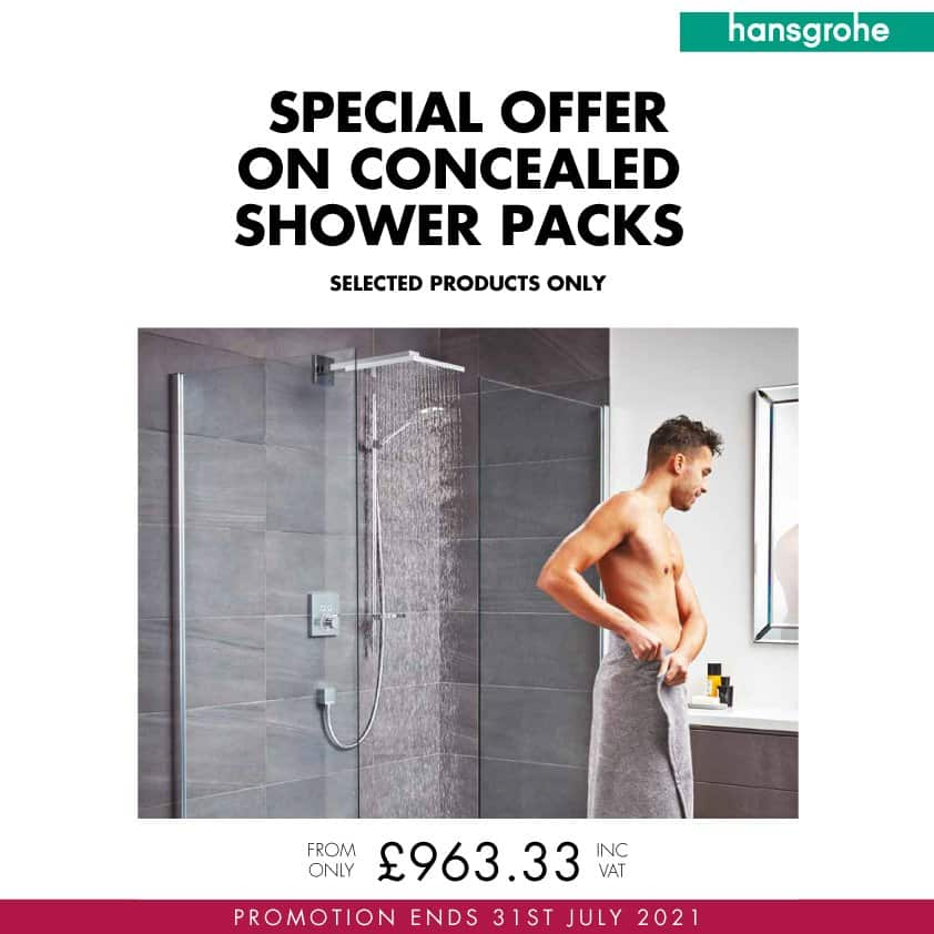 hansgrohe concealed shower packs